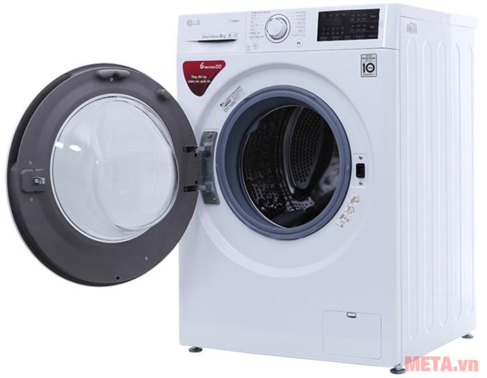 Máy giặt LG inverter 8 kg FC1408S4W2 được thiết kế kiểu lồng giặt ngang
