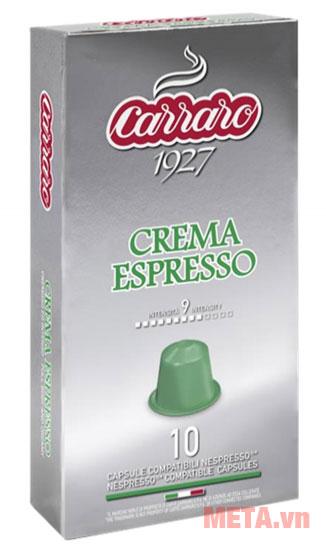 Viên nén cà phê Carraro CREMA ESPRESSO