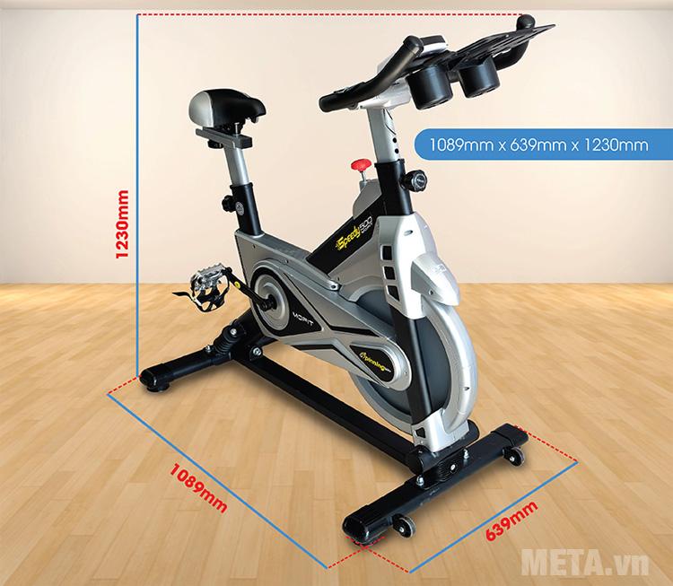 Kích thước xe đạp tập liên hoàn Mofit SP500