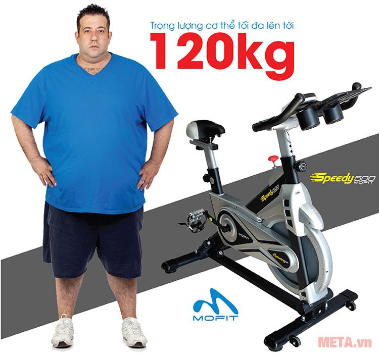 Xe đạp có tải trọng lên đến 120kg