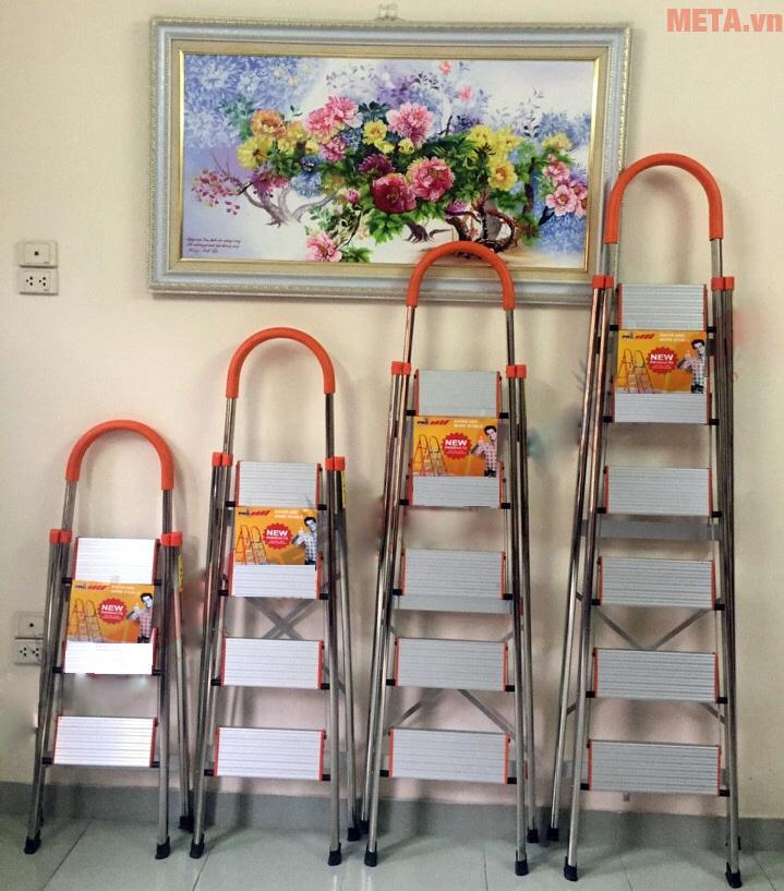 Minh họa các loại thang inox