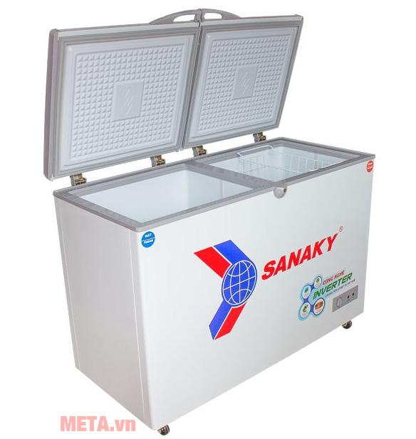 Tủ đông Sanaky VH-2899W3 có thiết kế 2 cánh tủ