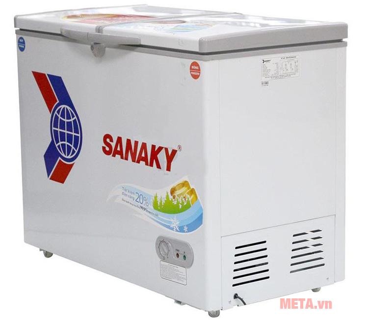 Tủ đông 2 ngăn Sanaky có thiết kế tiện dụng