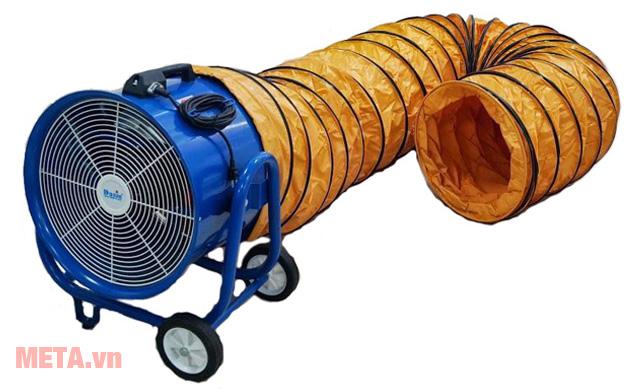 Ống gió KIN mềm phi 500 dài 5m phù hợp sử dụng với quạt thông gió công nghiệp