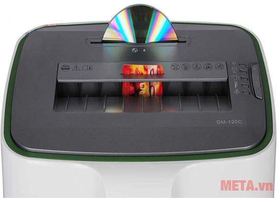 Máy hủy tài liệu Magitech DM-120M hủy cả thẻ cứng