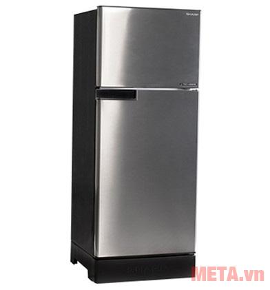 Tủ lạnh Sharp SJ-X176E-SL có thiết kế màu bạc sang trọng