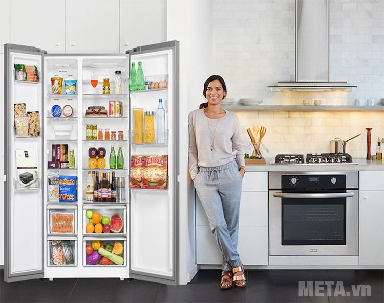 Hệ thống đèn led thắp sáng tủ lạnh