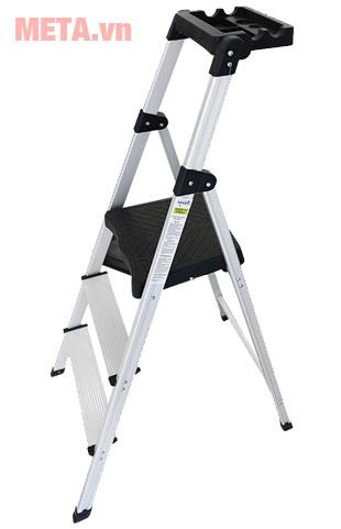 Thang ghế 3 bậc Nikawa NKP-03 thiết kế các bậc thang có độ ma sát cao.