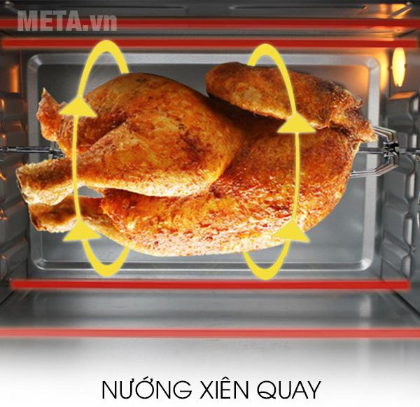 Hệ thống nướng xiên quay của lò nướng Sharp