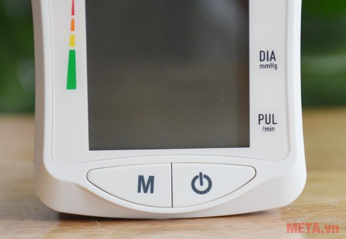 Mặt trước máy đo huyết áp