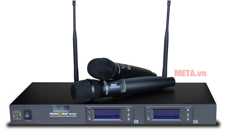 Hình ảnh bộ sản phẩm micro không dây HS-1515