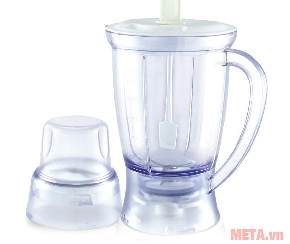 Máy xay sinh tố 2 cối nhựa