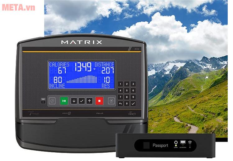 Máy tập Matrix A50 XR được tích hợp chương trình thực tế ảo