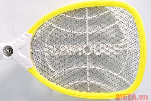 Mặt vợt được thiết 3 lớp lưới giúp tiêu diệt muỗi nhanh chóng