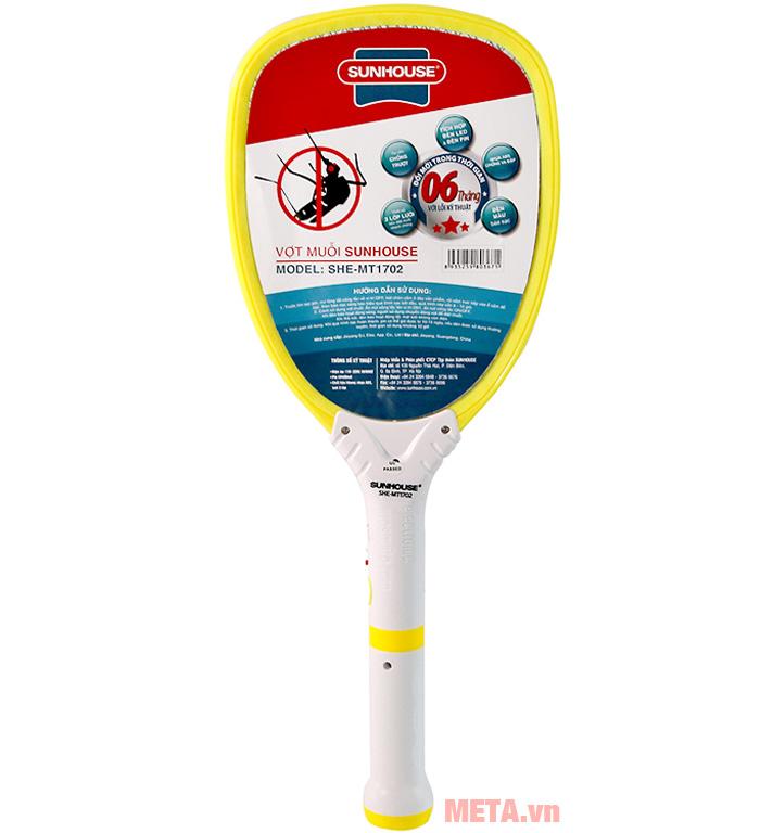 Hình ảnh vợt muỗi Sunhouse SHE-MT1702.Y