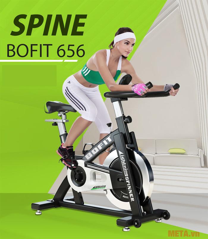Hình ảnh luyện tập với xe đạp tập Bofit 656