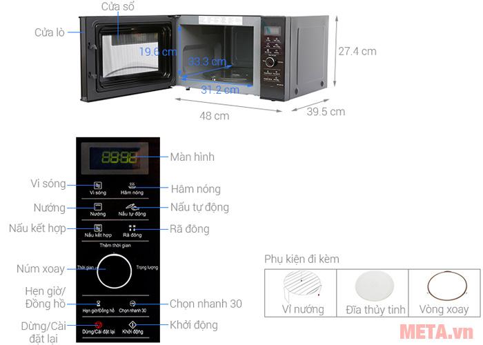 Cấu tạo của lò vi sóng Inverter Panasonic NN-GD37HBYUE