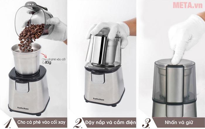 Hướng dẫn sử dụng máy xay cà phê
