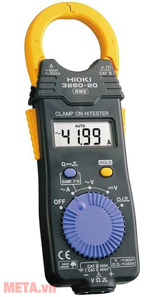 Ampe kìm AC Hioki 3280-20F có núm vặn xoay dễ chọn thang đo