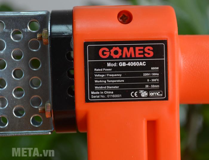 Thông số máy hàn ống nhiệt