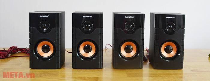 4 loa vệ tinh của loa bluetooth karaoke Soundmax A8920
