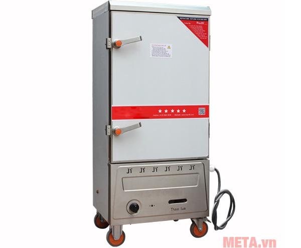 Tủ nấu cơm công nghiệp 10 khay dùng Gas và Điện TCDG-10 đáp ứng được 250 suất ăn
