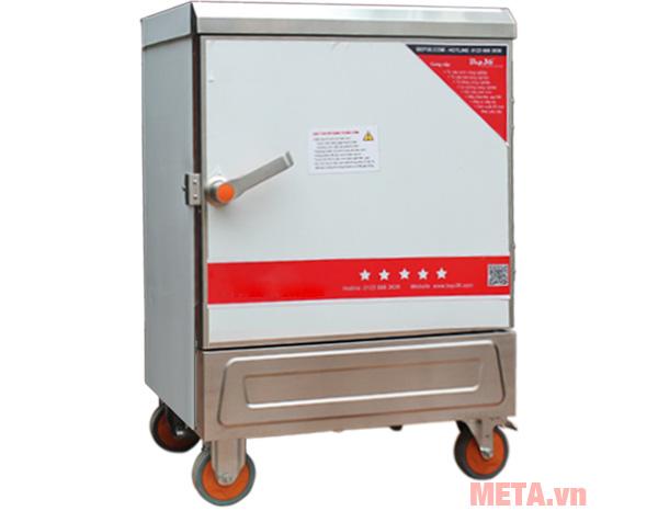 Tủ nấu cơm công nghiệp 6 khay dùng điện TCD-6 có bánh xe di chuyển
