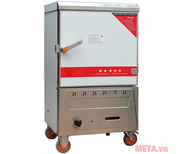 Tủ nấu cơm công nghiệp 6 khay dùng gas TCG-6 vừa nấu cơm vừa hấp thực phẩm.