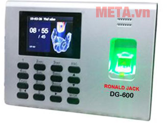Máy chấm công bằng vân tay Ronald Jack DG-600 có khả năng lưu trữ bô nhớ lớn.