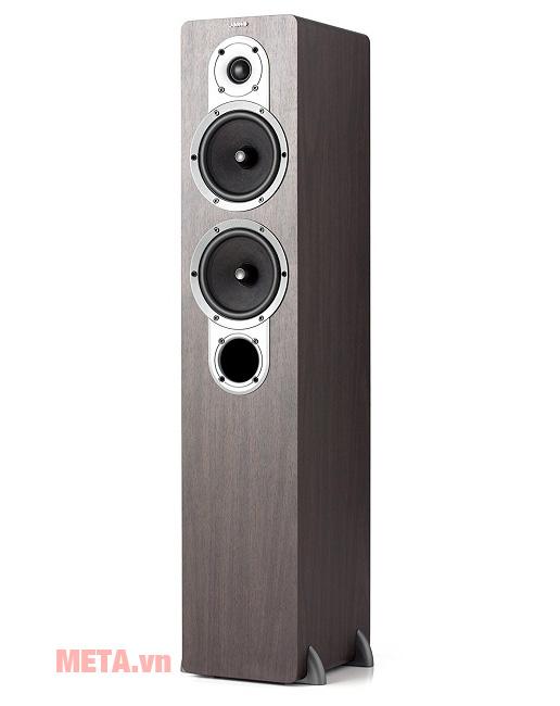 Loa nghe nhạc Jamo S426HCS3 sở hữu thiết kế vân gỗ sang trọng
