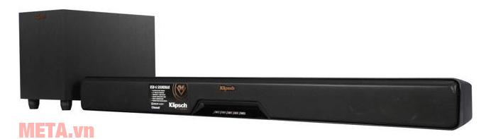 Bộ loa thùng Klipsch RSB-6 sở hữu màu đen sang trọng