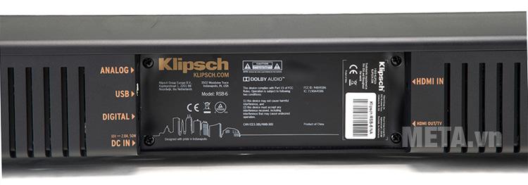 Ngõ vào của loa thùng Klipsch RSB-6
