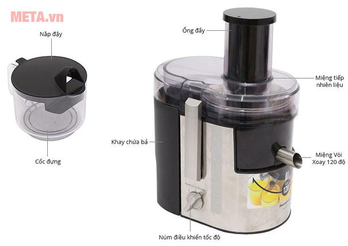Cấu tạo của máy ép trái cây Panasonic MJ-DJ01SRA