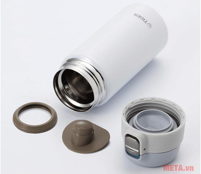 Bình giữ nhiệt lưỡng tính Tiger MMJ-A060 có miệng bình được thiết kế rộng