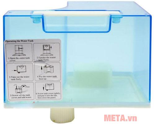 Bình đựng nước có thể tháo rời để vệ sinh dễ dàng