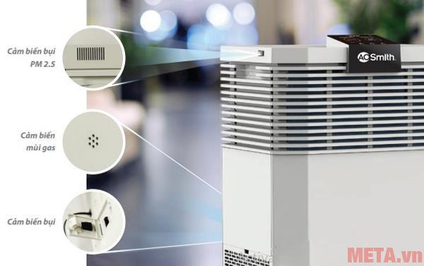 Các cảm biến hoạt động thông minh và phát hiện mùi hôi bụi bẩn hiệu quả