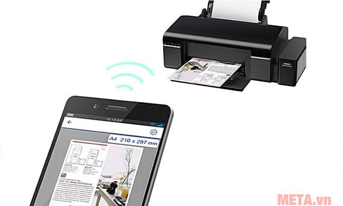 Khả năng kết nối wifi với thiết bị in tiện lợi