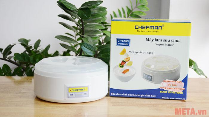 Máy làm sữa chua Chefman có 8 cốc thủy tinh