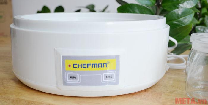 Khung máy làm sữa chua Chefman 8 cốc thủy tinh có trọng lượng nhẹ chỉ khoảng 1kg