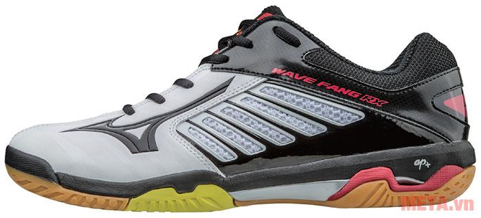 Giày cầu lông WAVE FANG RX2 màu đen - trắng
