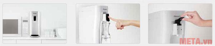 Máy có chế độ lấy nước rảnh tay đem đến nhiều tiện ích cho người dùng