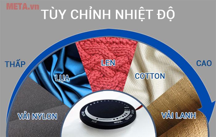 Mặt đế DynaGlide, giúp bàn là khô Philips GC160 dễ dàng trượt trên tất cả các loại vải.