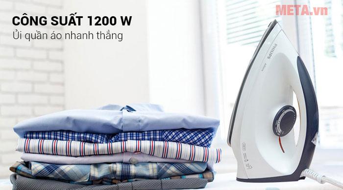 Bàn là khô Philips GC160 điều khiển nhiệt độ dễ dàng