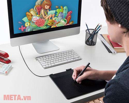 Sử dụng Intuos ART Medium kết nối với máy tính