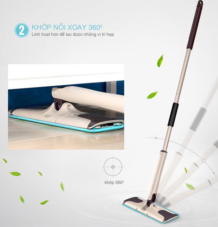 Khớp xoay 360 độ giúp bạn làm sạch mọi vị trí