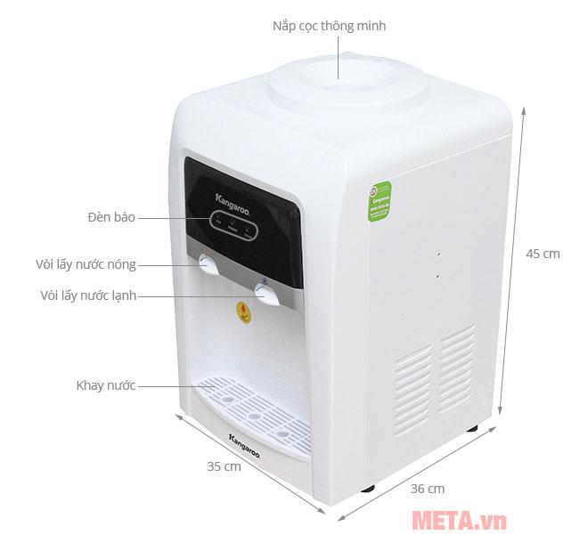 Cấu tạo máy làm nước nóng lạnh Kangaroo KG-33TN