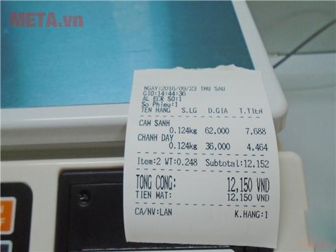 Máy cân tính tiền