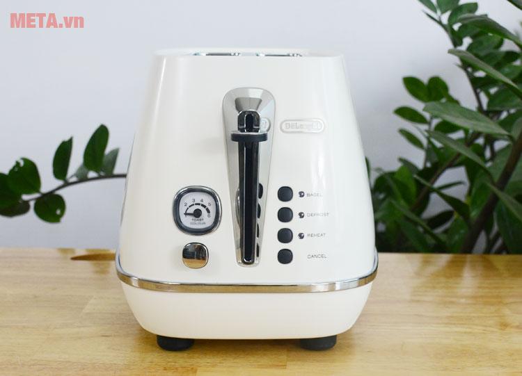Máy nướng bánh mì Distina CTI 2103.W có thiết kế tiện lợi
