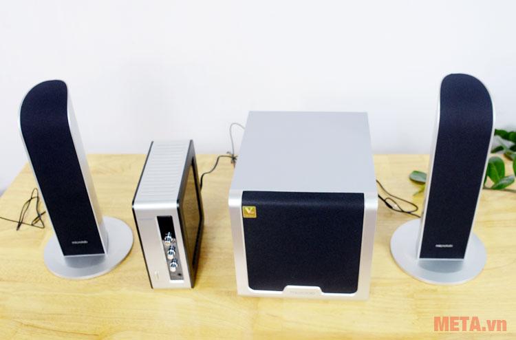 Loa Microlab FC361 có thiết kế nhỏ gọn, phù hợp với mọi không gian