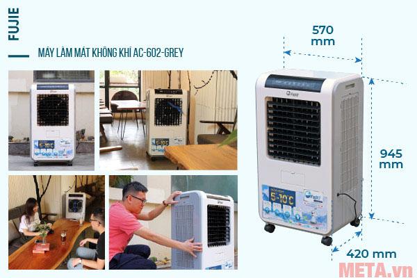Kích thước của máy làm mát cao cấp FujiE AC-602
